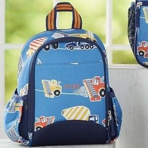 ISO Pottery Barn Kids Blue Construction Lunch Pack